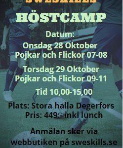 Sweskills Höstcamp